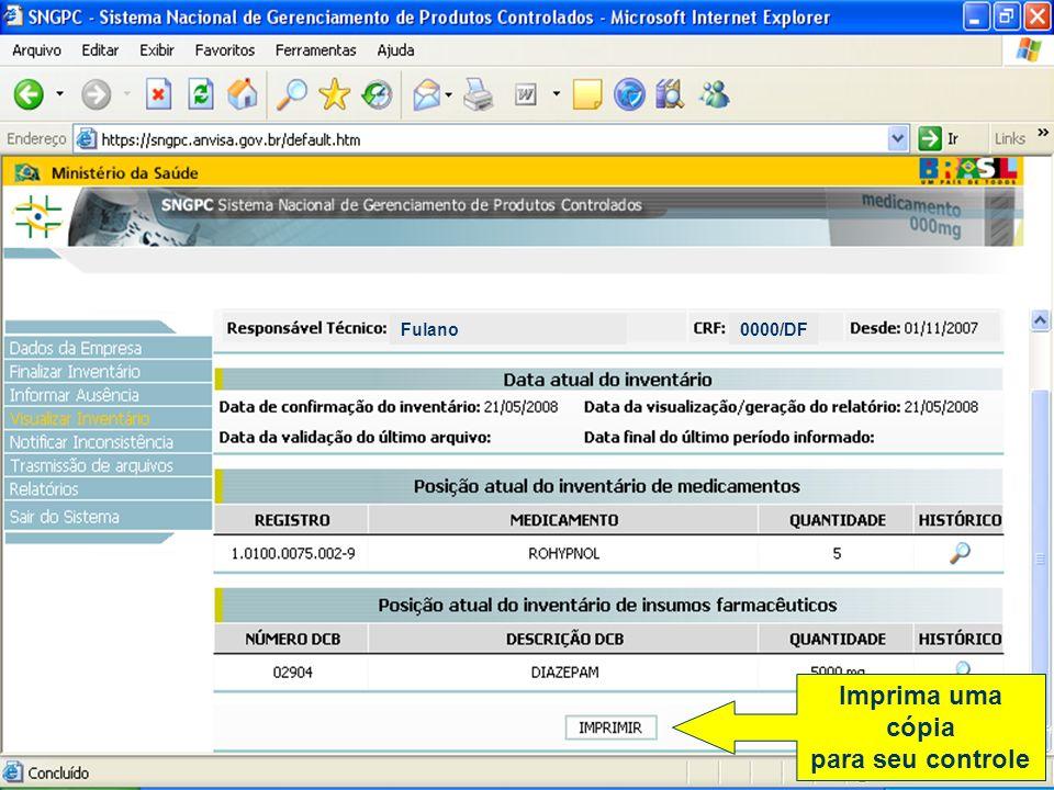 Razões mais comuns que originam as não aceitações de arquivos 2- Inclusão de itens inconsistentes: Da mesma forma que no inventário inicial, nas movimentações os itens com inconsistência não podem ser incluídos.
