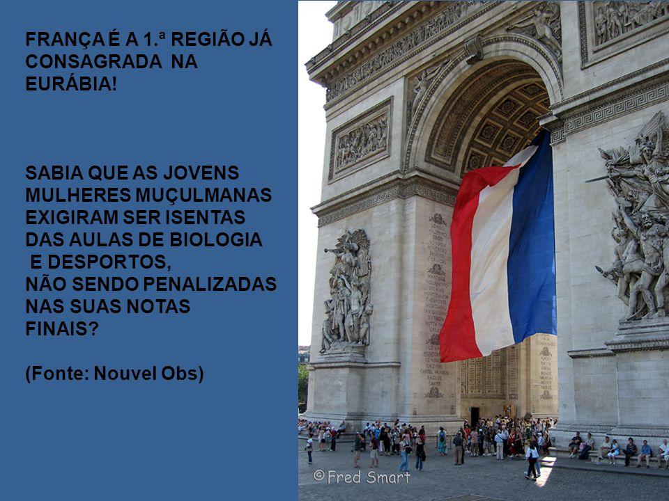 FRANÇA É A 1.ª REGIÃO JÁ CONSAGRADA NA EURÁBIA.