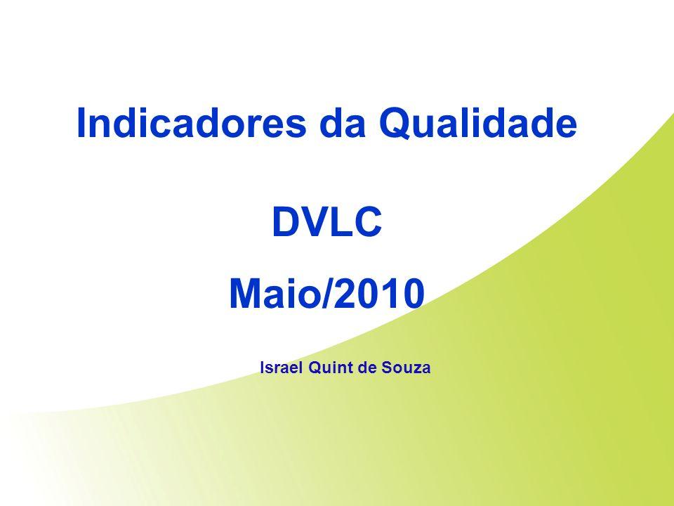 Indicadores da Qualidade DVLC Maio/2010 Israel Quint de Souza