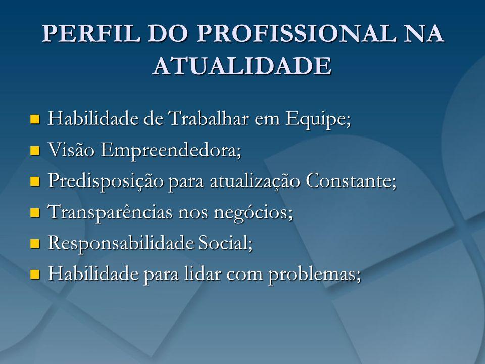PERFIL DO PROFISSIONAL NA ATUALIDADE Habilidade de Trabalhar em Equipe; Habilidade de Trabalhar em Equipe; Visão Empreendedora; Visão Empreendedora; P