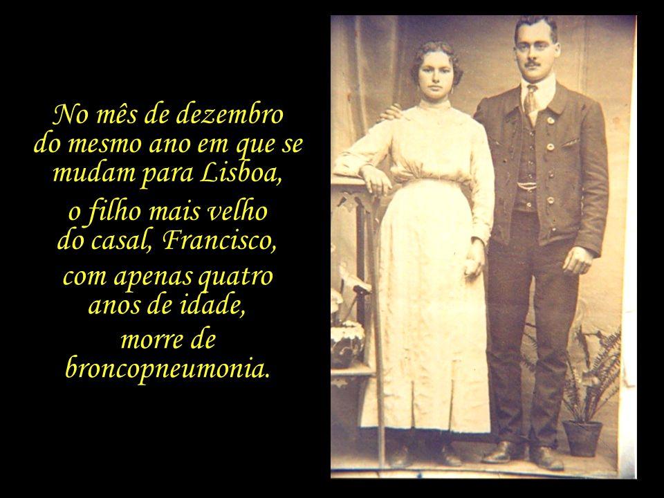 Em Lisboa, Maria da Piedade passa a cuidar dos afazeres domésticos, e se dedica aos filhos, Francisco, de quatro anos, e José Saramago, que conta com