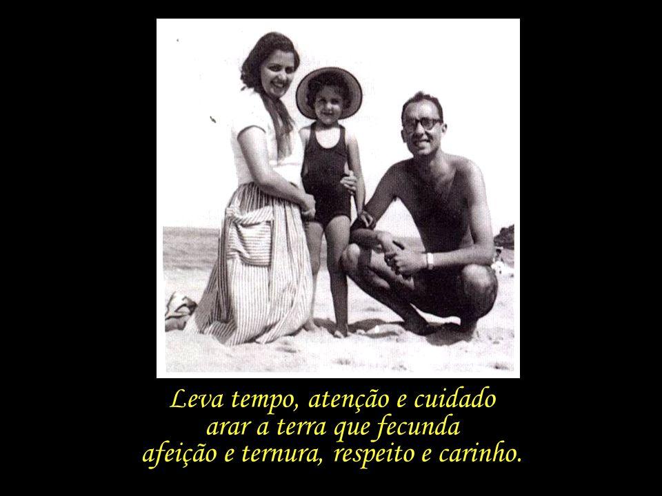 Pais e filhos – a convivência gera laços; no entanto, o amor, a admiração e o carinho necessitam ser construídos.