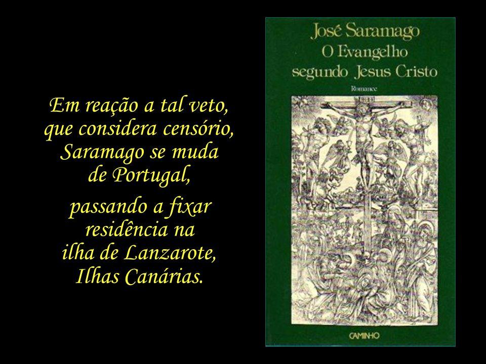 Em 1992, a Secretaria de Cultura de Portugal veta a inscrição do livro na disputa do Prêmio Literário Europeu, por considerá-lo ofensivo para o catoli