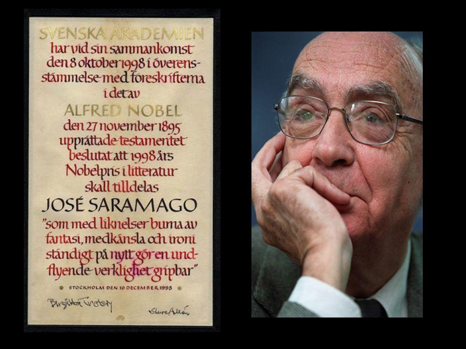 1998 – Recebe o Prêmio Nobel de Literatura, tornando-se o primeiro autor da língua portuguesa a receber a homenagem.