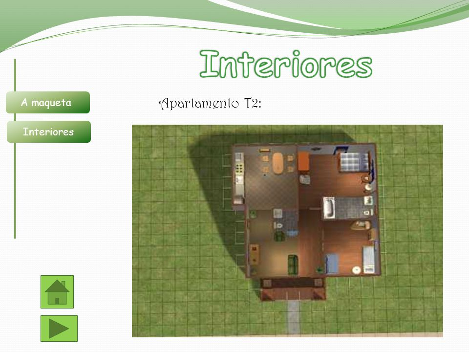 Apartamento T2: A maqueta Interiores