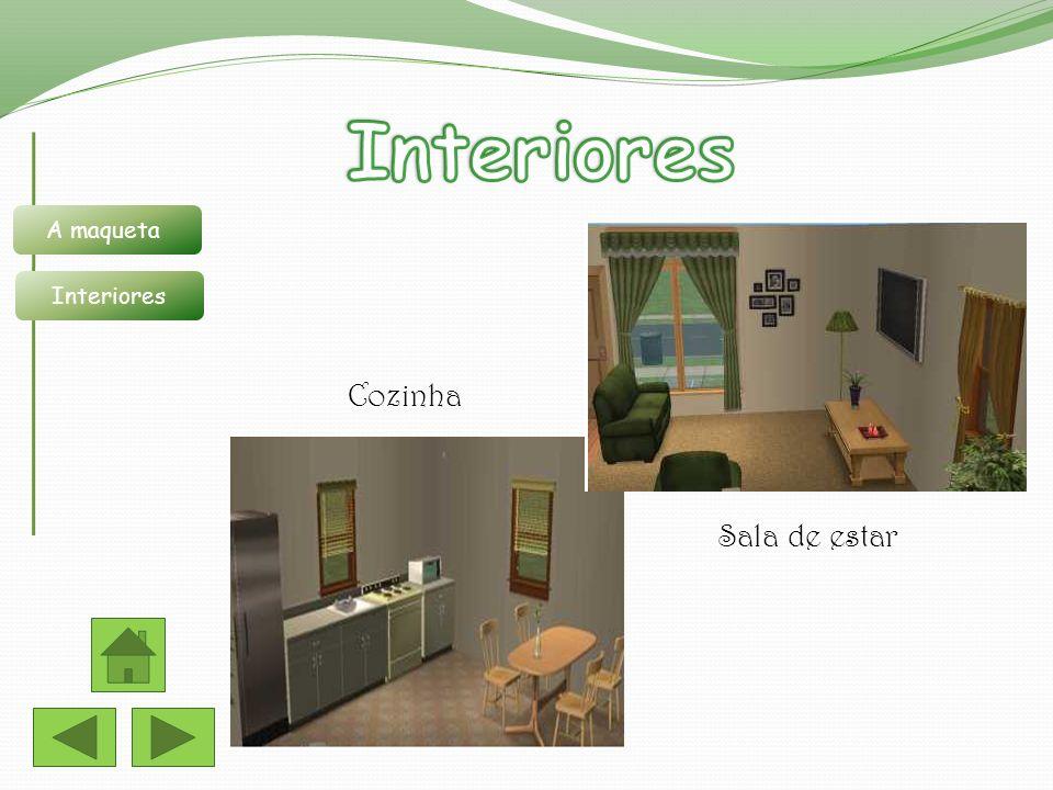 Sala de estar Cozinha A maqueta Interiores