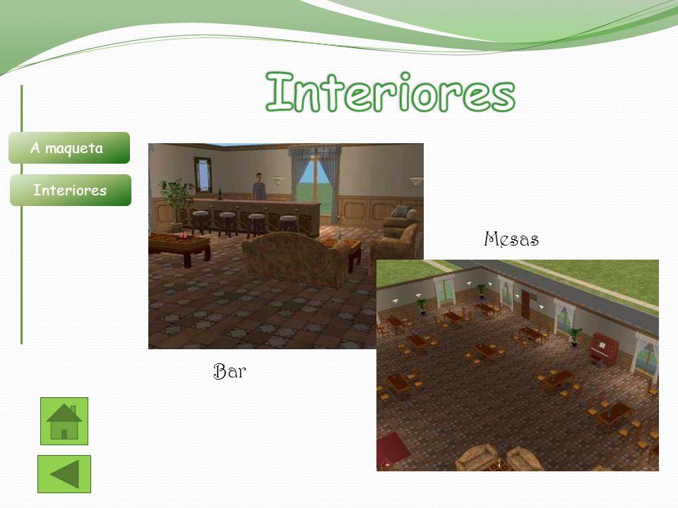 Bar Mesas A maqueta Interiores