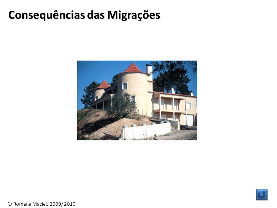 © Romana Maciel, 2009/ 2010 Consequências das Migrações