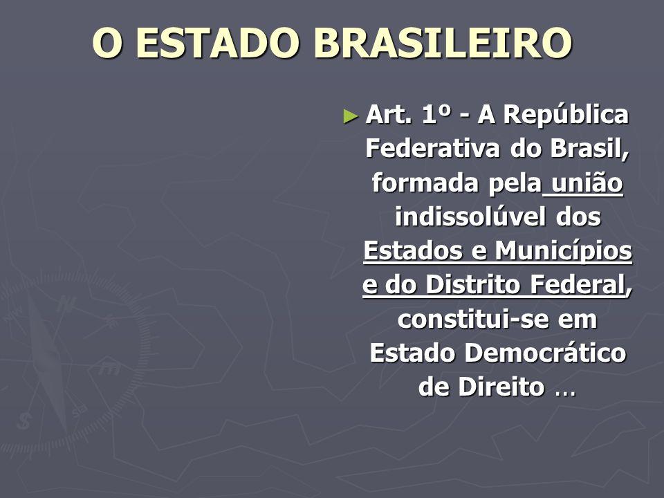 O ESTADO BRASILEIRO Art.