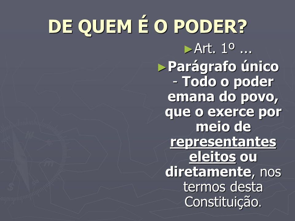 DE QUEM É O PODER.Art. 1º...