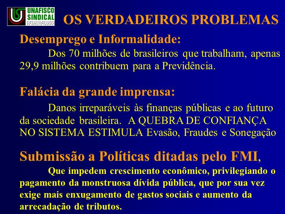 Desemprego e Informalidade: Dos 70 milhões de brasileiros que trabalham, apenas 29,9 milhões contribuem para a Previdência.