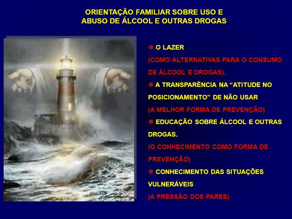 O LAZER (COMO ALTERNATIVAS PARA O CONSUMO DE ÁLCOOL E DROGAS).