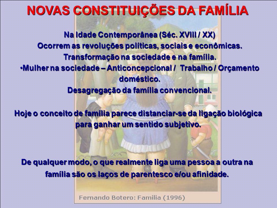 De qualquer modo, o que realmente liga uma pessoa a outra na família são os laços de parentesco e/ou afinidade. Hoje o conceito de família parece dist