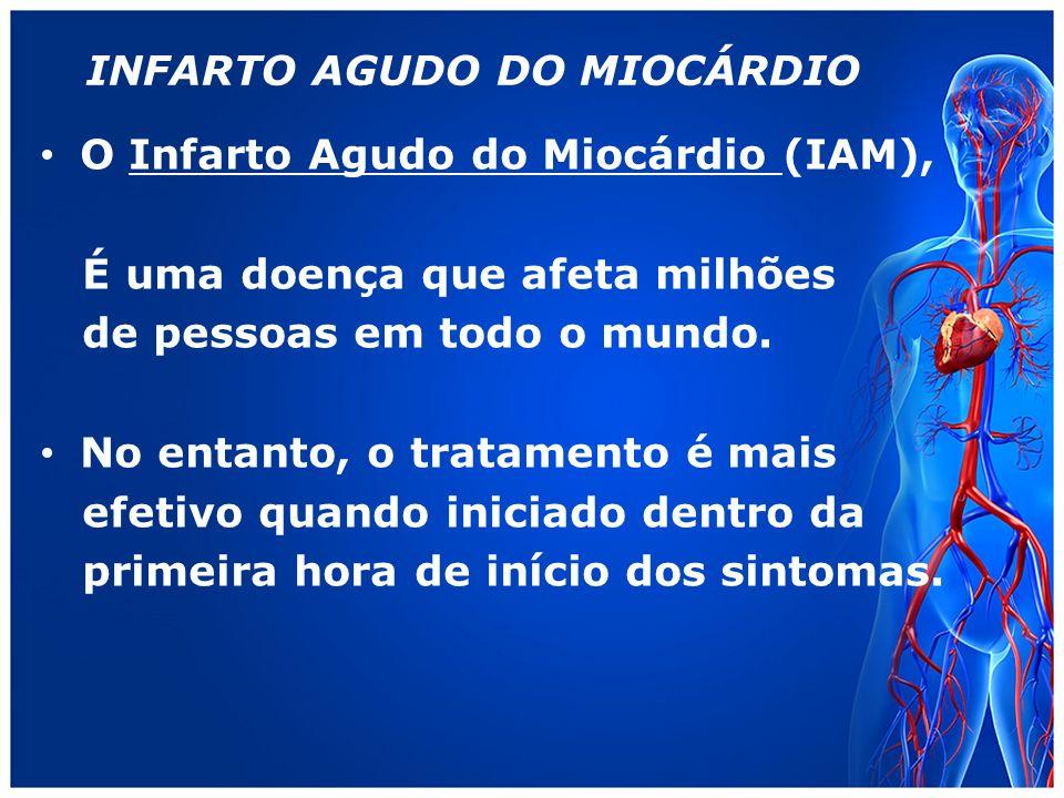 INFARTO AGUDO DO MIOCÁRDIO O Infarto Agudo do Miocárdio (IAM), É uma doença que afeta milhões de pessoas em todo o mundo.