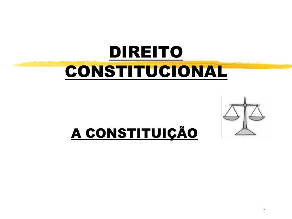 1 DIREITO CONSTITUCIONAL A CONSTITUIÇÃO