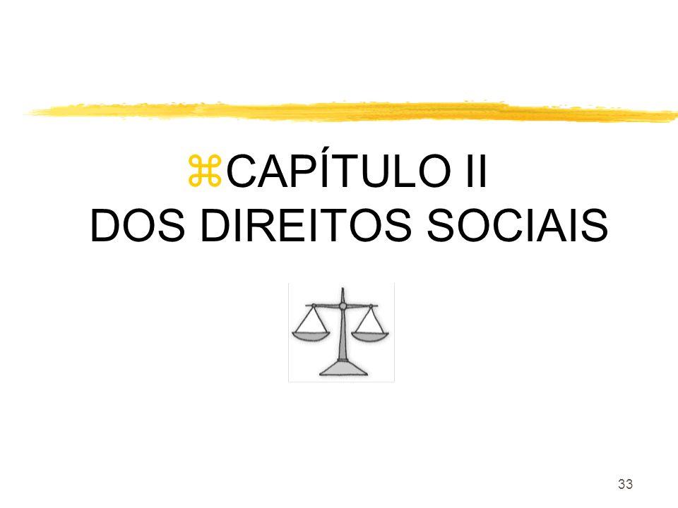 33 zCAPÍTULO II DOS DIREITOS SOCIAIS