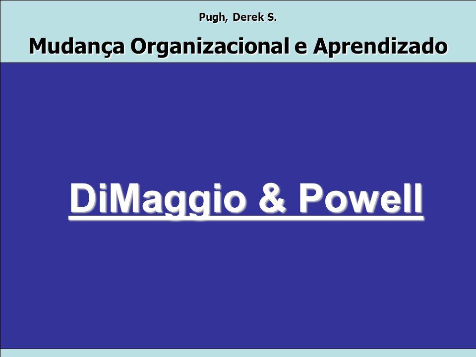 Pugh, Derek S. Mudança Organizacional e Aprendizado Teorias de Administração Prof. Dr. Rogério S. Nunes Consuelo Paiva Claudio Colucci Fabio Antunes M