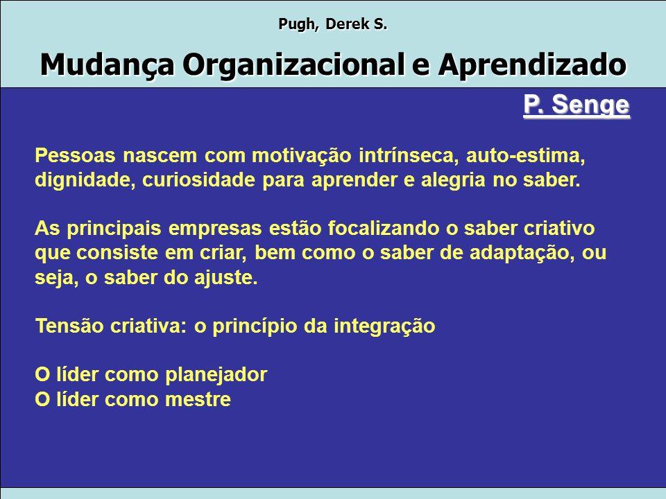 Pugh, Derek S. Mudança Organizacional e Aprendizado P. Senge