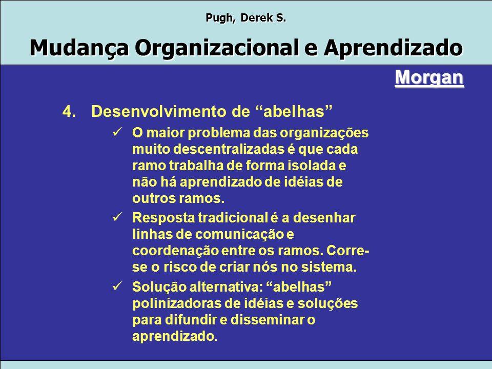 Pugh, Derek S. Mudança Organizacional e Aprendizado Morgan 3.Desenvolvimento de vários umbilicais para gerenciar diferentes situações Desenvolver plan