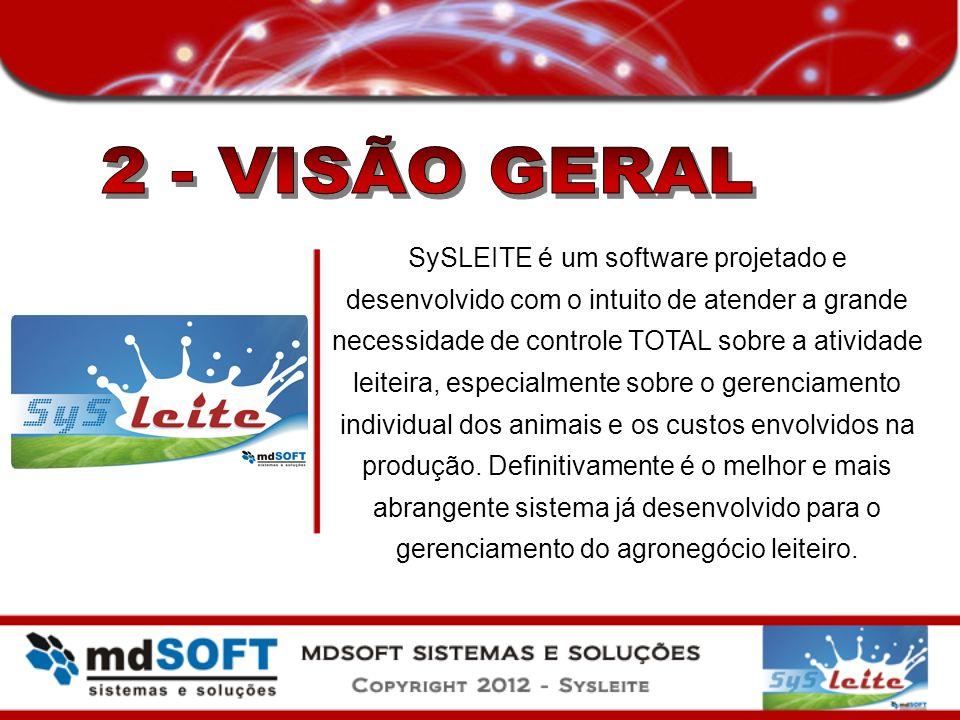 SySLEITE é um software projetado e desenvolvido com o intuito de atender a grande necessidade de controle TOTAL sobre a atividade leiteira, especialme