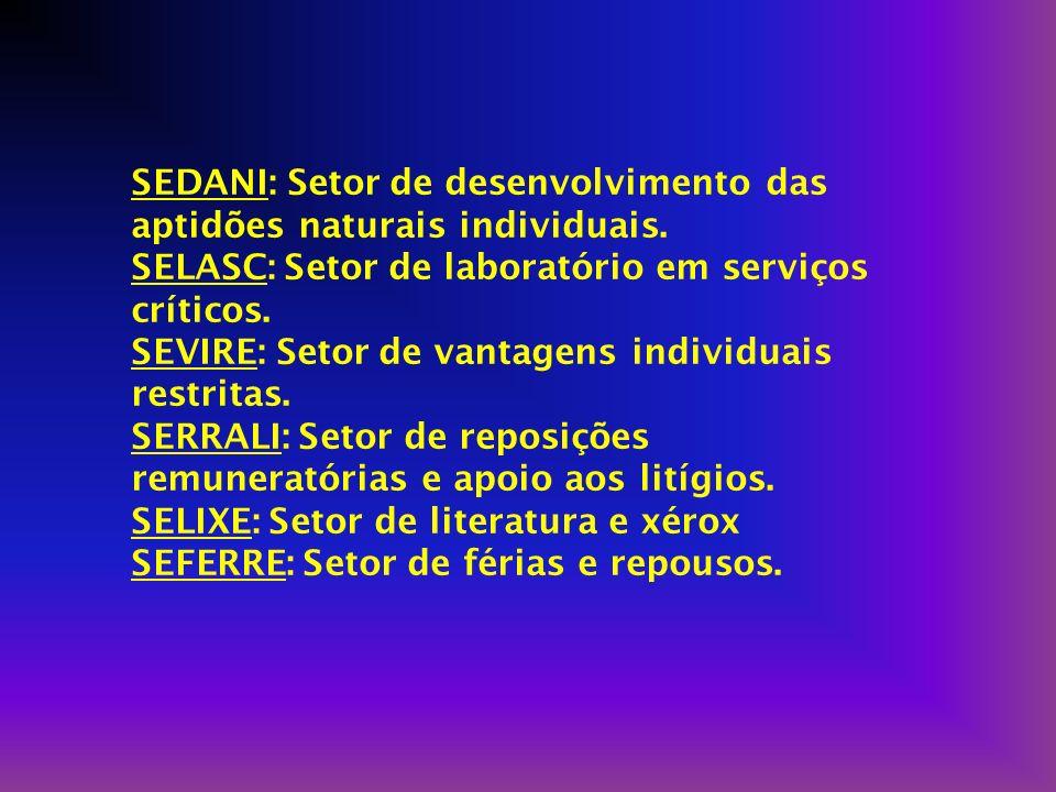 SEFU: Secretaria dos funcionários e terá a finalidade de defender os interesses de todos em nível local, estadual e até mesmo federal.Para melhor dist