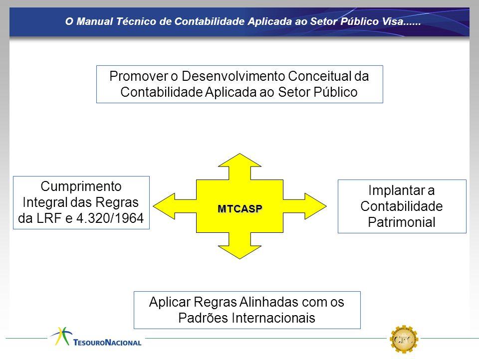 Implantar a Contabilidade Patrimonial Cumprimento Integral das Regras da LRF e 4.320/1964 O Manual Técnico de Contabilidade Aplicada ao Setor Público