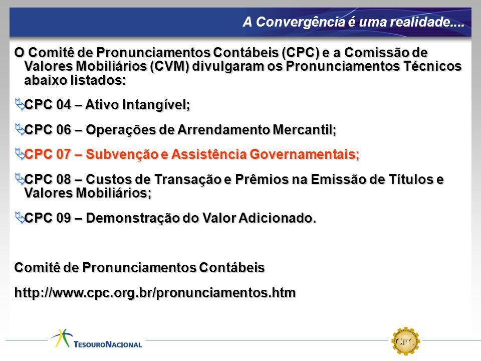 Normas Brasileiras de Contabilidade aplicas ao Setor Público (CFC) Nova Lei Complementar (CFC/STN) Sistema de Custos Manual Técnico de Contabilidade Aplicada ao Setor Público Novo Modelo de Contabilidade Manual Técnico dos Demonstrativos Fiscais