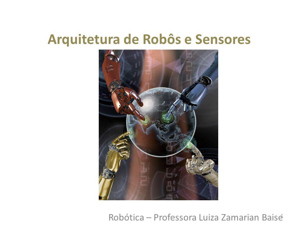 Robótica – Professora Luiza Zamarian Baise Arquitetura de Robôs e Sensores 1