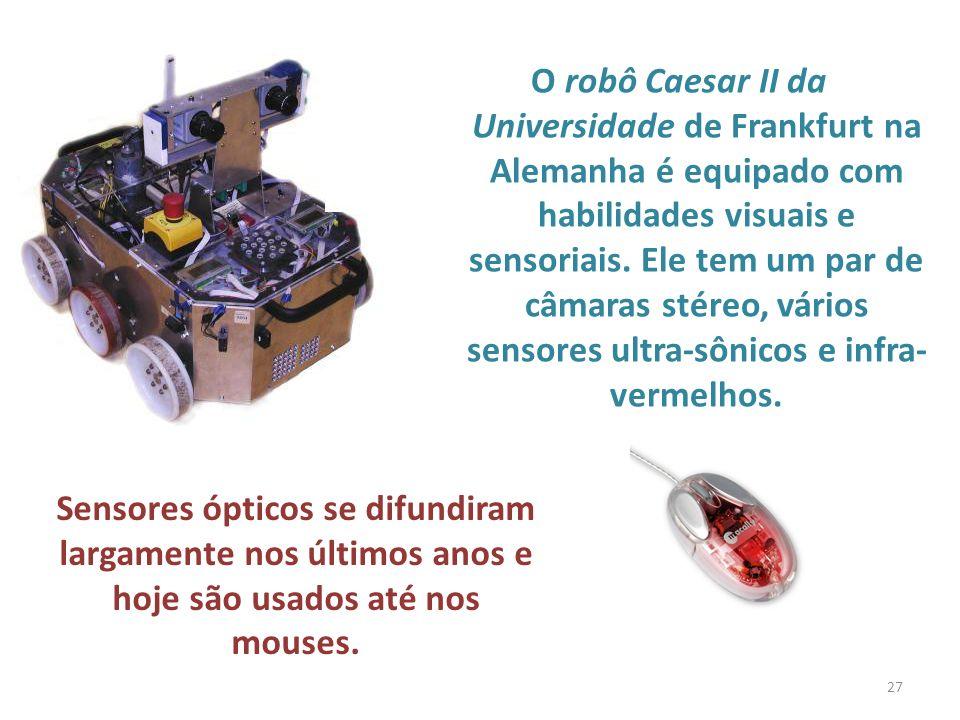 O robô Caesar II da Universidade de Frankfurt na Alemanha é equipado com habilidades visuais e sensoriais.