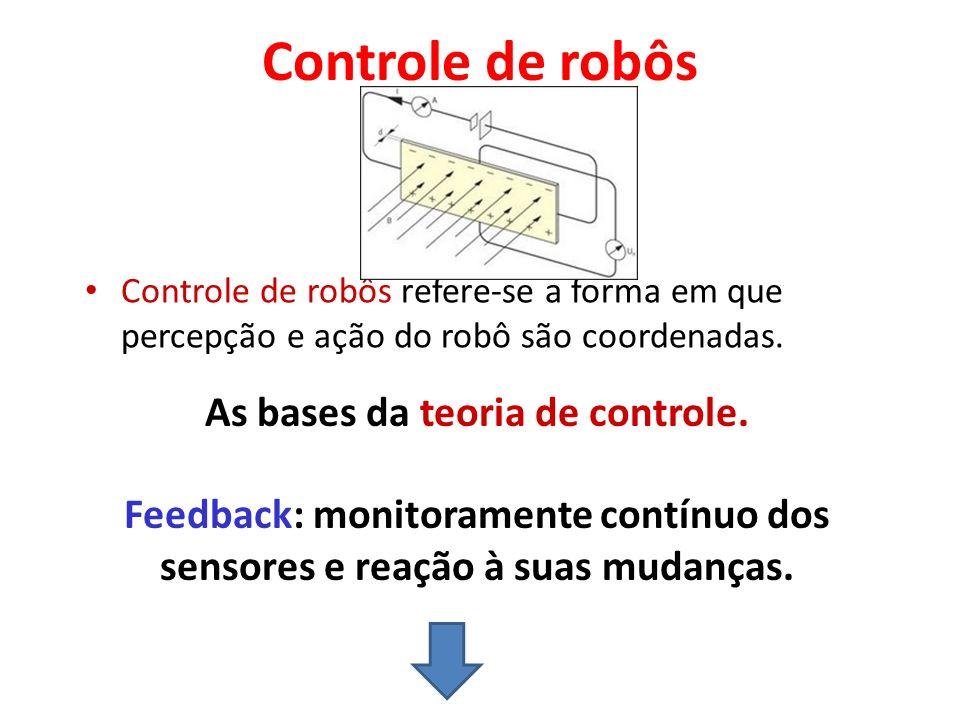 GRAUS DE LIBERDADE O número de articulações em um braço do robô é também referenciada como grau de liberdade.