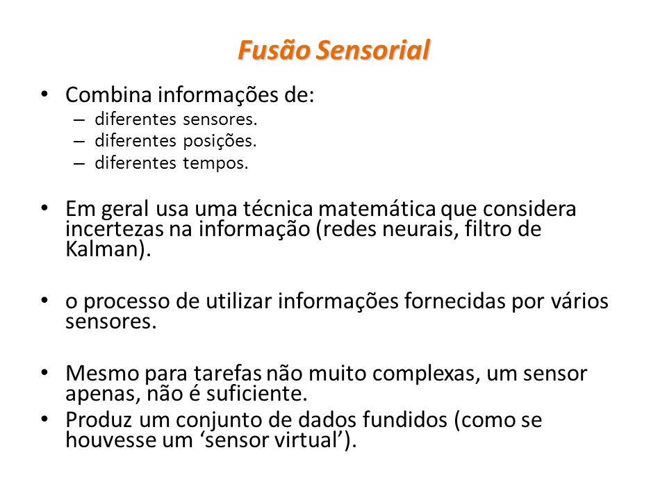 Fusão Sensorial Combina informações de: – diferentes sensores.