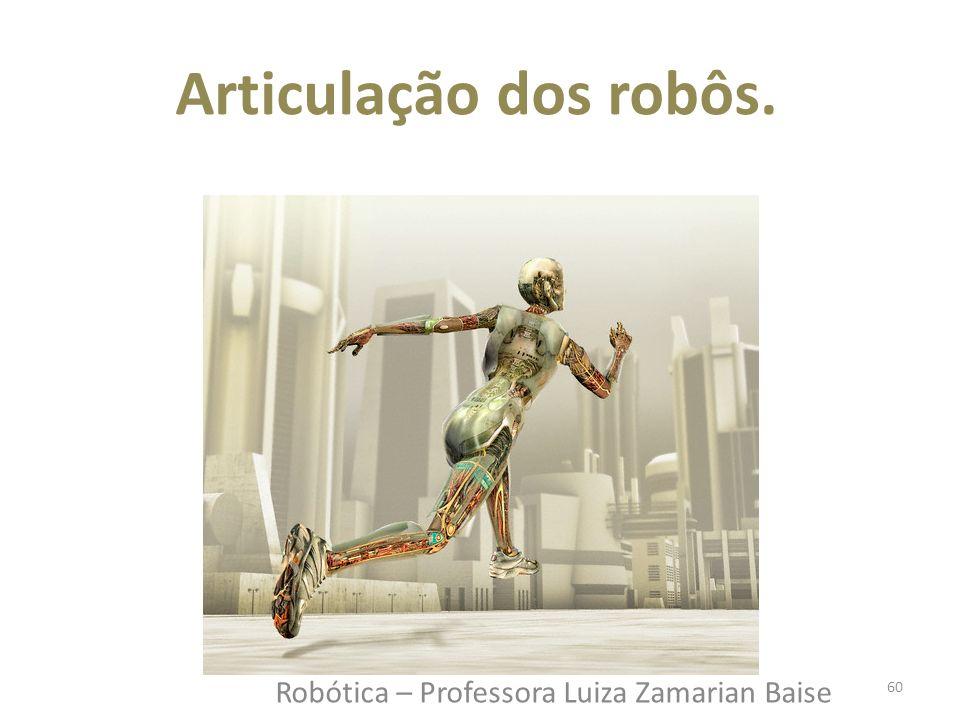 Robótica – Professora Luiza Zamarian Baise Articulação dos robôs. 60