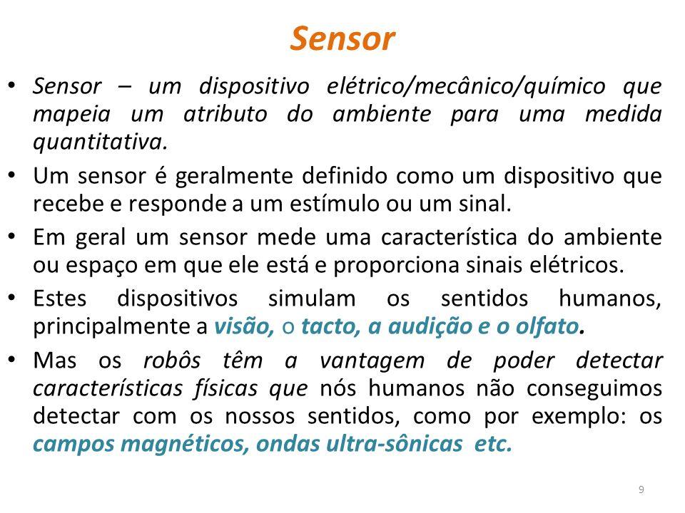 sensores de luz: células solares, fotodíodos, fototransístores, tubos fotoeléctricos, CCDs (charge- coupled device, ou dispositivo de carga acoplado, sensor para a gravação de imagens), radiómetro de Nichols, sensor de imagem.