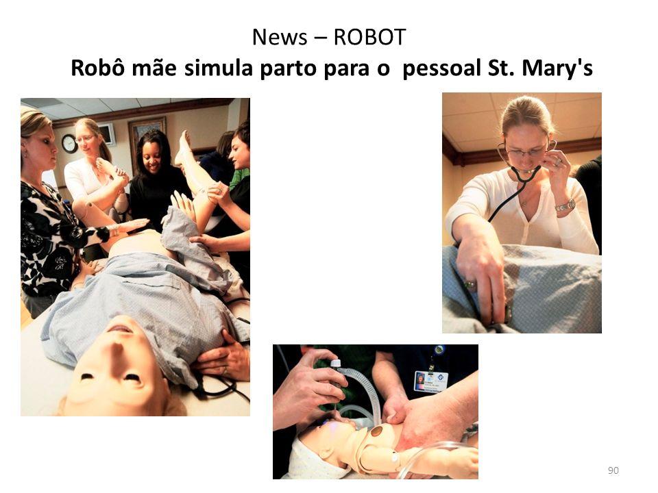News – ROBOT Robô mãe simula parto para o pessoal St. Mary s 90