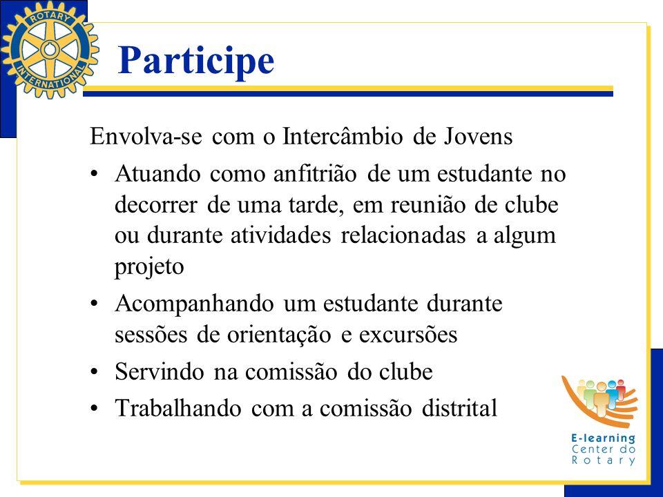 Participe Envolva-se com o Intercâmbio de Jovens Atuando como anfitrião de um estudante no decorrer de uma tarde, em reunião de clube ou durante ativi