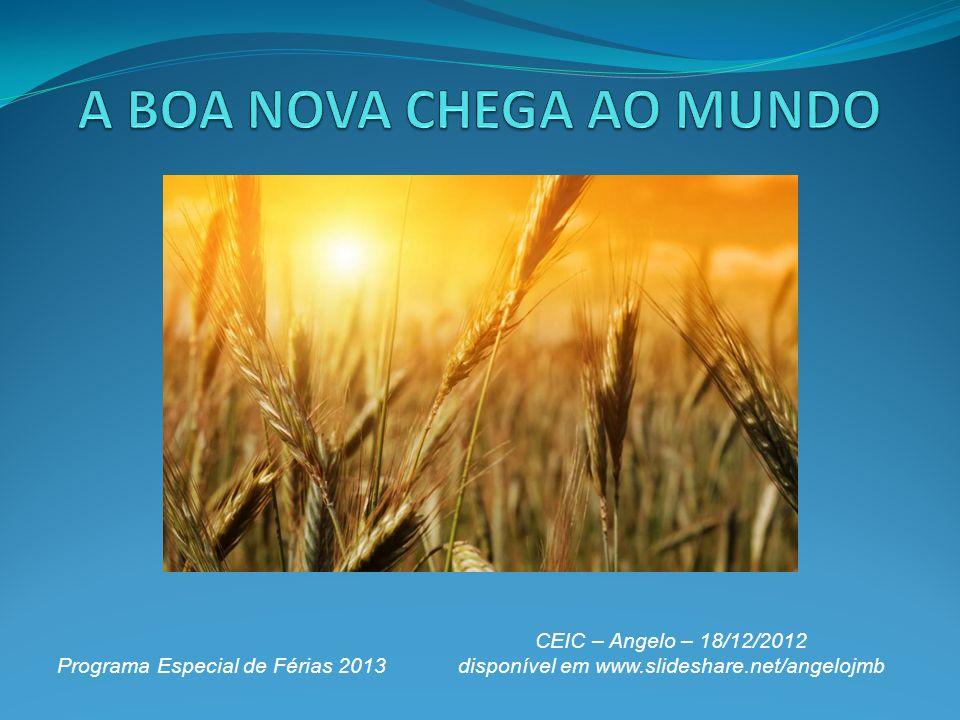 Programa Especial de Férias 2013 CEIC – Angelo – 18/12/2012 disponível em www.slideshare.net/angelojmb