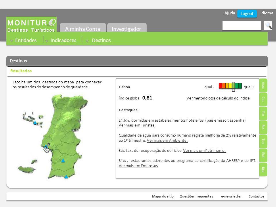 Ajuda Idioma Mapa do sítioQuestões frequentese-newsletterContactos Logout Destinos Escolha um dos destinos do mapa para conhecer os resultados do desempenho de qualidade.