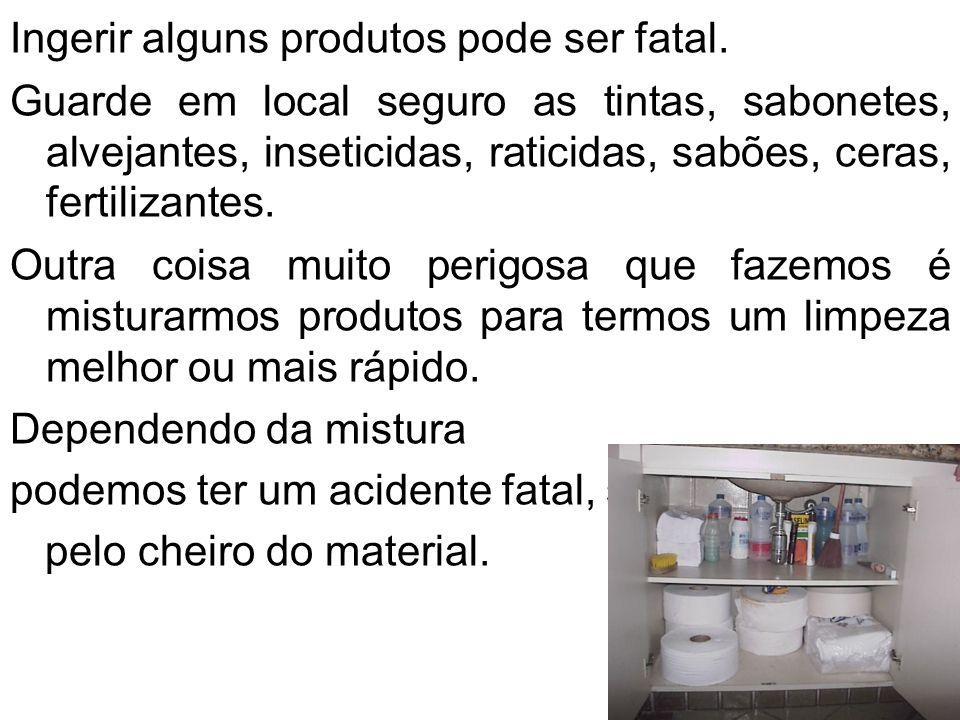Ingerir alguns produtos pode ser fatal.