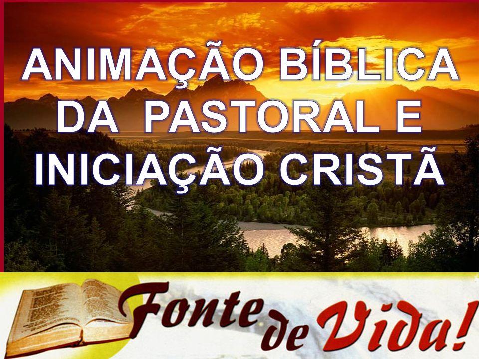 IGREJA: LUGAR DE ANIMAÇÃO BÍBLICA DA VIDA E DA PASTORAL - Deus se revela no diálogo, por isso o povo de Deus deve ser educado nas SE e na Tradição.