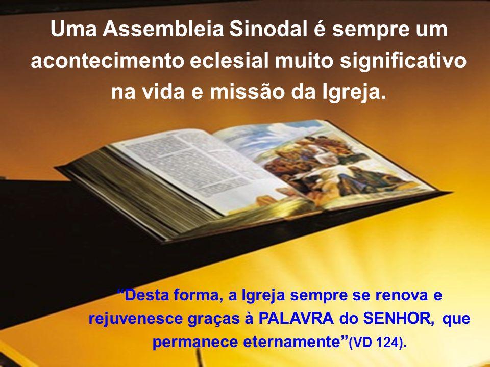 Uma Assembleia Sinodal é sempre um acontecimento eclesial muito significativo na vida e missão da Igreja. Desta forma, a Igreja sempre se renova e rej