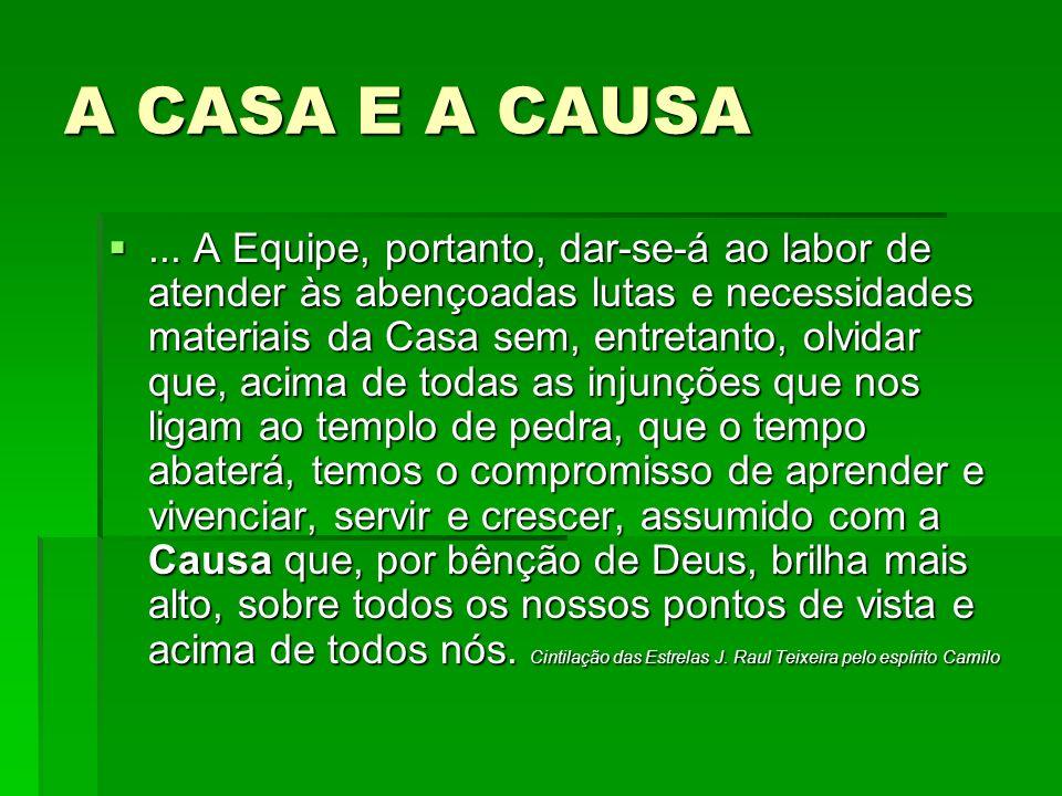 A CASA E A CAUSA...