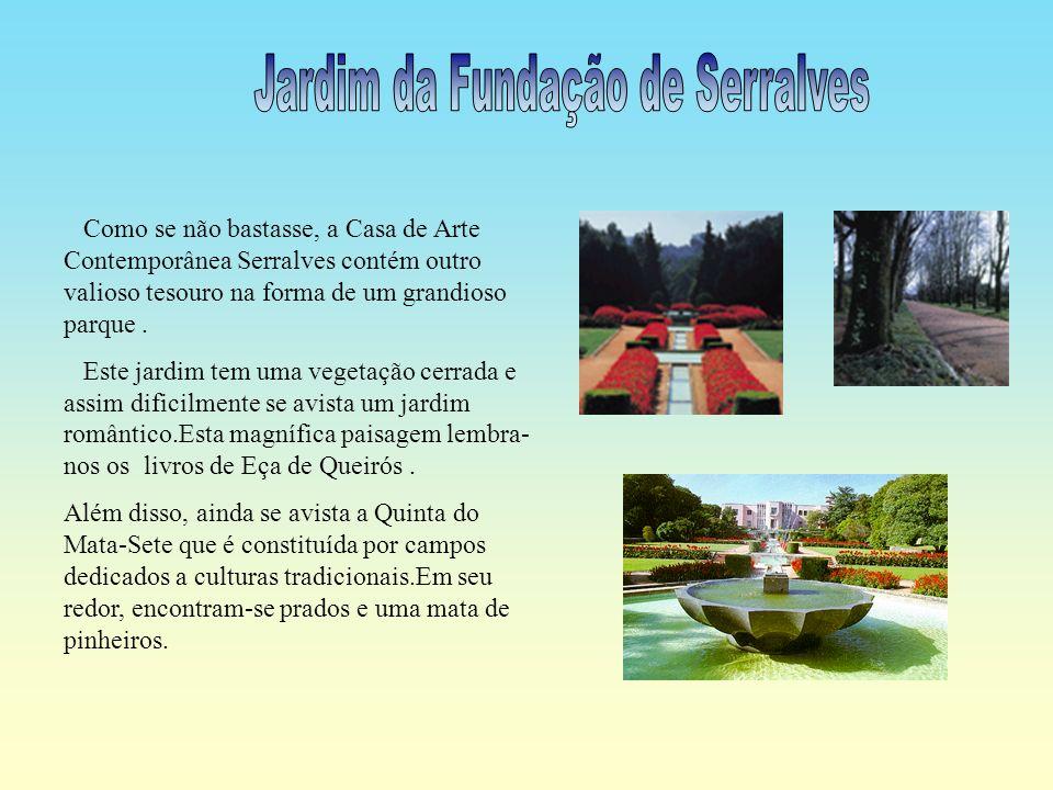 O museu da Casa de Serralves, está aberto ao público, este tem ao seu dispor uma área de exposição com 4000 metros quadrados. Além disso,tem um auditó