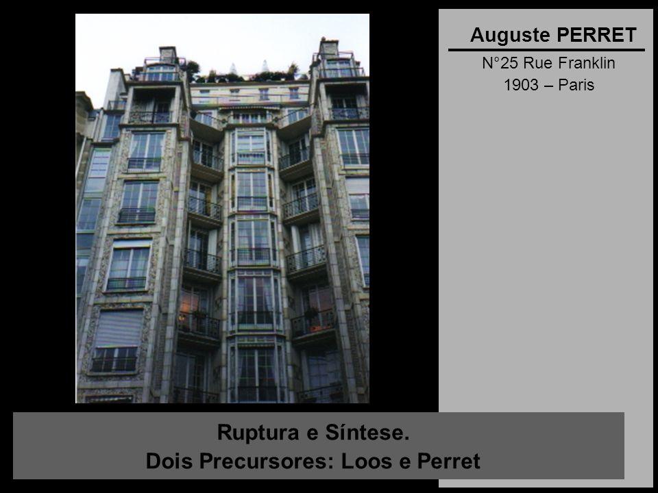 Ruptura e Síntese. Dois Precursores: Loos e Perret Auguste PERRET N°25 Rue Franklin 1903 – Paris