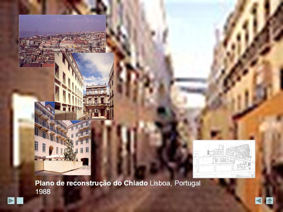 Plano de reconstrução do Chiado Lisboa, Portugal 1988