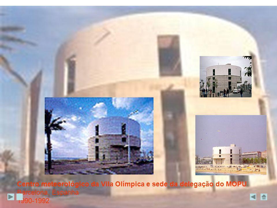 Centro meteorológico da Vila Olímpica e sede da delegação do MOPU Barcelona, Espanha 1990-1992