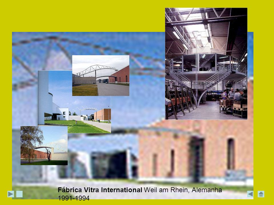 Fábrica Vitra International Weil am Rhein, Alemanha 1991-1994