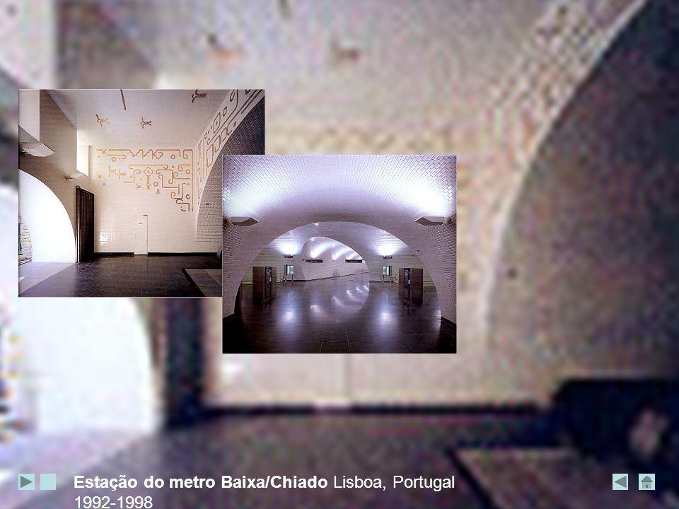 Estação do metro Baixa/Chiado Lisboa, Portugal 1992-1998