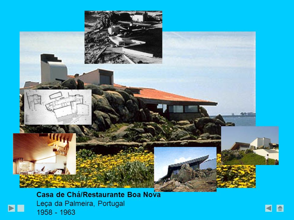Casa de Chá/Restaurante Boa Nova Leça da Palmeira, Portugal 1958 - 1963