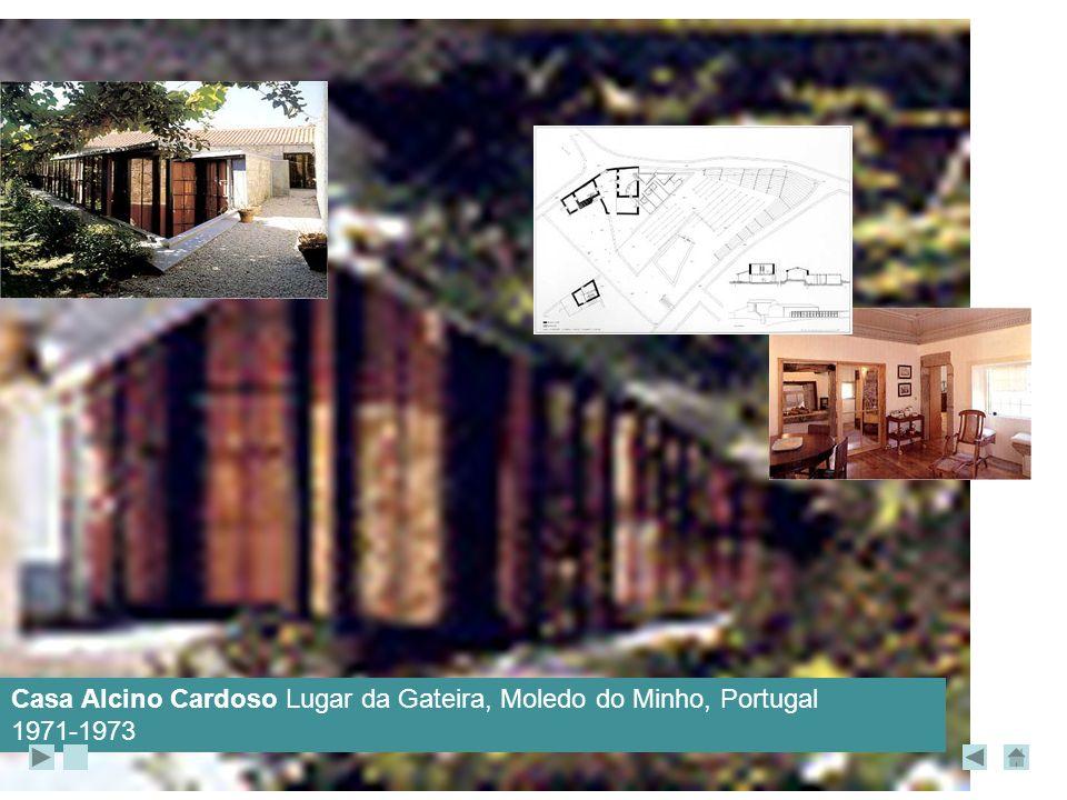 Casa Alcino Cardoso Lugar da Gateira, Moledo do Minho, Portugal 1971-1973