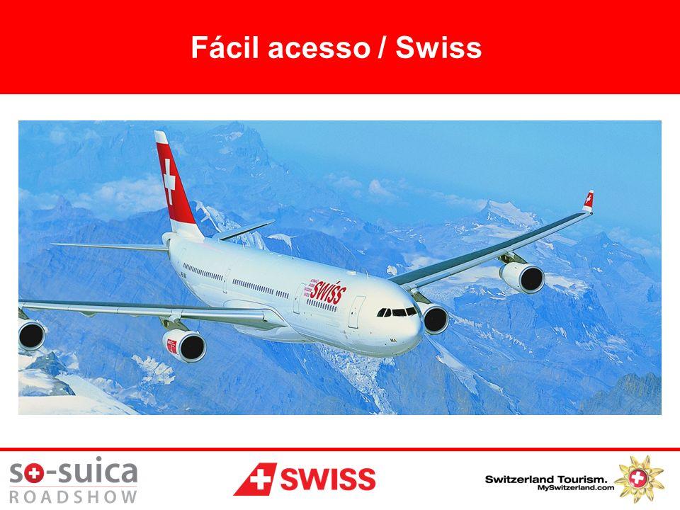 72 destinos, 90 aviões 47 destinos europeus e 4 Suíços